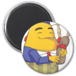 Happy Englishman Potato Playing Flute Magnets
