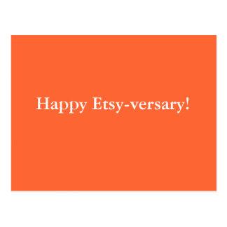 Happy Etsy-versary! Postcards