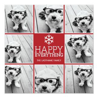 Happy Everything Holiday Photo Collage Invitation
