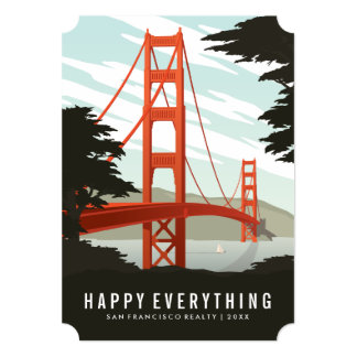 Happy Everything in San Francisco 5x7 Paper Invitation Card