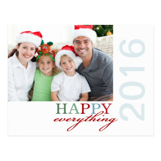 HAPPY Everything Photo Holiday Postcard