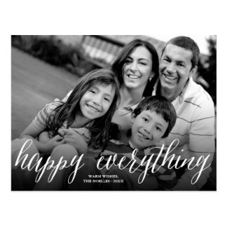 Happy Everything Simple Script Holiday Postcard