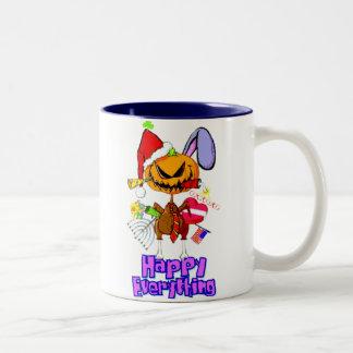 Happy Everything! Two-Tone Coffee Mug