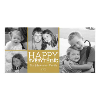 Happy Everything with 4 photo collage - Gold Card