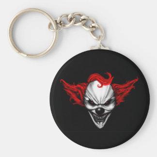 Happy Evil Clown Red Hair Keychain