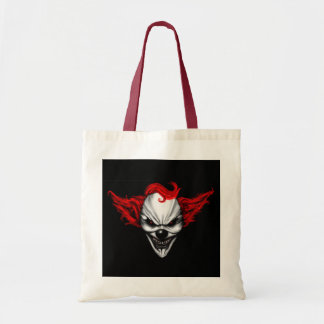 Happy Evil Clown Red Hair Tote Bag