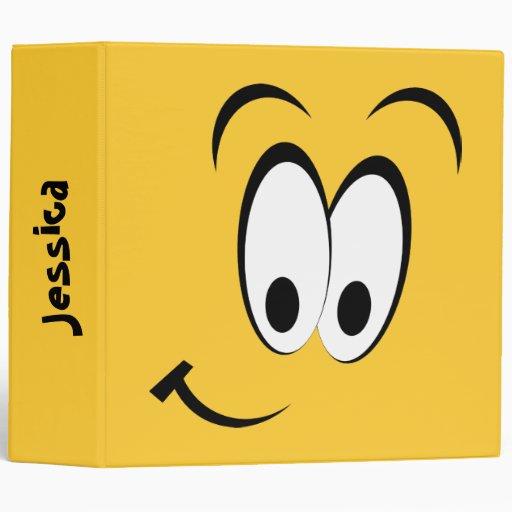 Happy Eyes and Smile Vinyl Binders