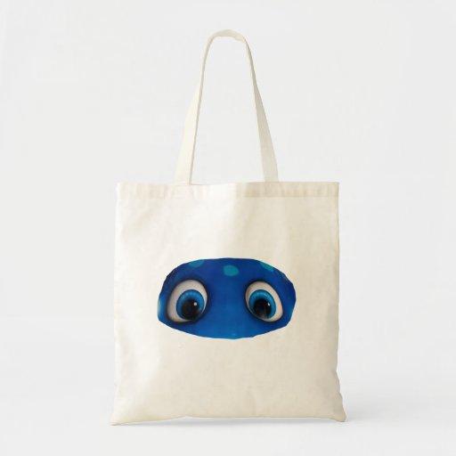 Happy Eyes Blue Cutout Bags