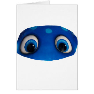 Happy Eyes Blue Cutout Card