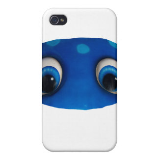 Happy Eyes Blue Cutout Case For iPhone 4