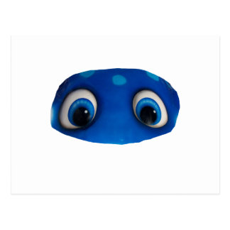 Happy Eyes Blue Cutout Postcard