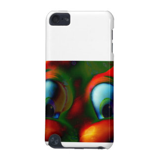 Happy Eyes Solarized Crazy Red Green iPod Touch (5th Generation) Case