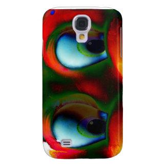 Happy Eyes Solarized Crazy Red Green Samsung S4 Case