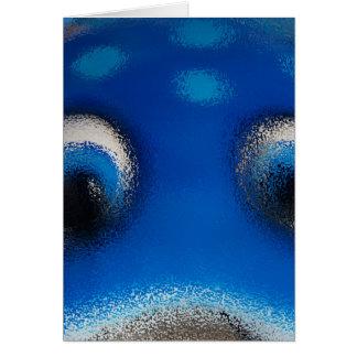 Happy Eyes Stingray Blue Ripple Card