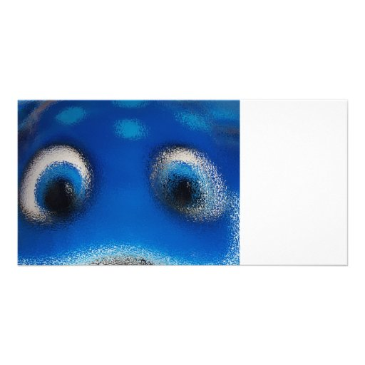 Happy Eyes Stingray Blue Ripple Photo Card