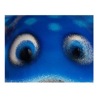 Happy Eyes Stingray Blue Ripple Postcard