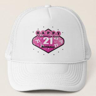 HAPPY FABULOUS LAS VEGAS 21ST BIRTHDAY HAT