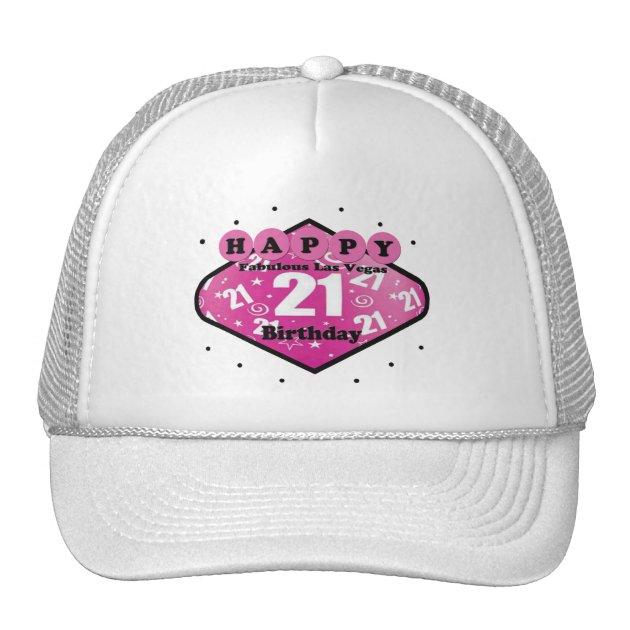 HAPPY FABULOUS LAS VEGAS 21ST BIRTHDAY HAT Zazzle