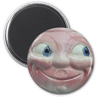Happy Face 2 Inch Round Magnet