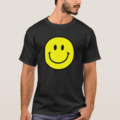 Happy Face Basic Dark T_Shirt