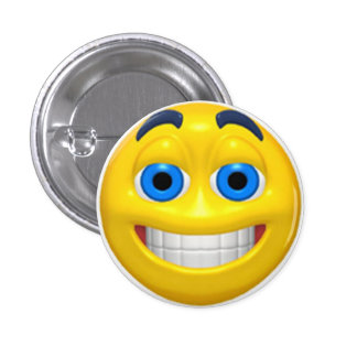 Happy Face Birthday Party Button