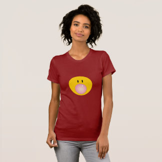 Happy Face blowing bubble gum T-Shirt