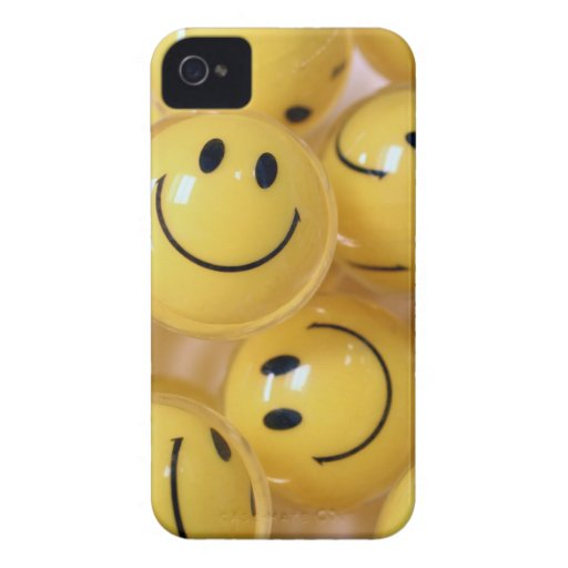 Happy face bouncy balls Case-Mate iPhone 4 case