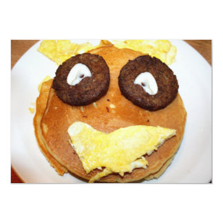 Happy Face Breakfast Card