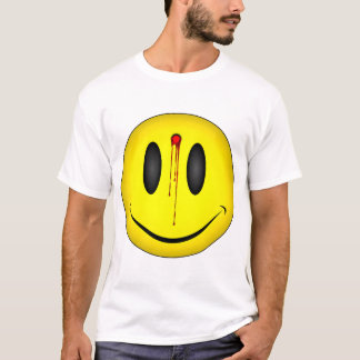 Happy Face Bullet Hole T-Shirt