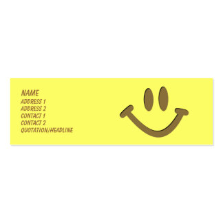 Happy Face Double-Sided Mini Business Cards (Pack Of 20)