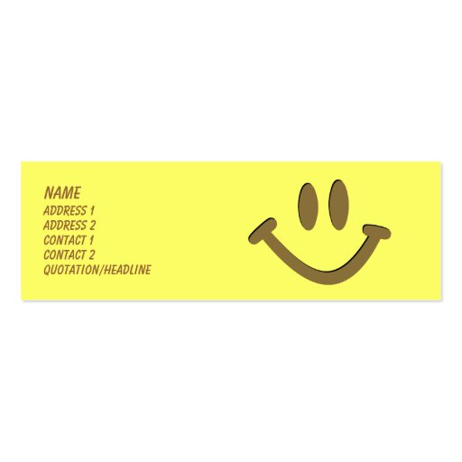 Happy Face Business Card