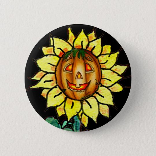 HAPPY FACE by SHARON SHARPE Pinback Button