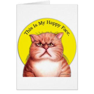 Happy Face cat Card