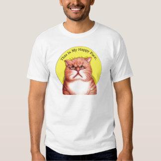 Happy Face cat Tee Shirt