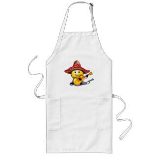 Happy Face Cinco de Mayo T-shirts and Gifts Long Apron