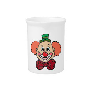 Happy Face Clown Beverage Pitcher