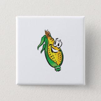 happy face corn on the cob button