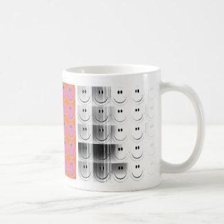 happy face diptych mug