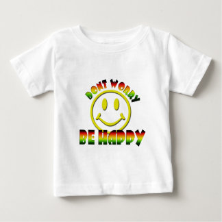 Happy Face - Don't Worry Be Happy Rastafari Colors Baby T-Shirt