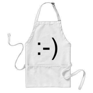 Happy face emoticon! apron