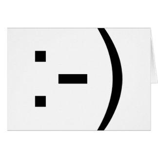 Happy face emoticon card