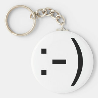 Happy face emoticon! keychain