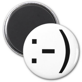 Happy face emoticon! magnet