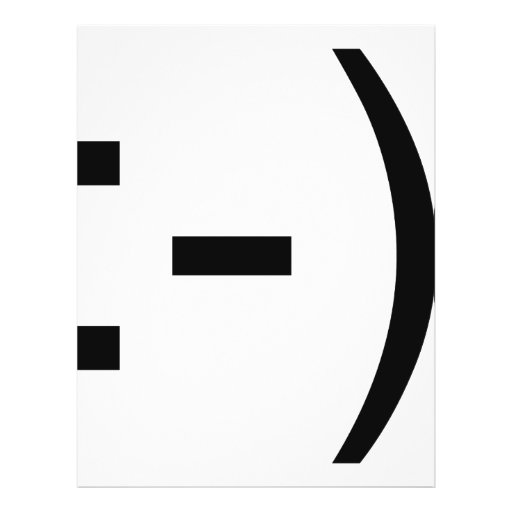 Happy face emoticon! personalized flyer