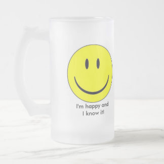 Happy Face Frosted Mug