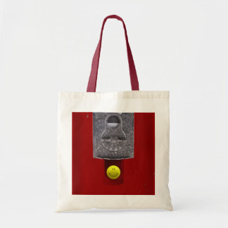 Happy face gumball bag