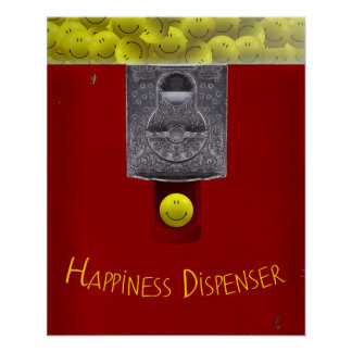 Happy Face Gumball Machine Poster