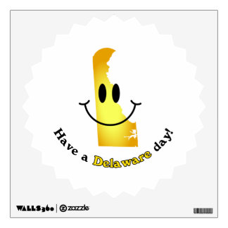 Happy Face - Have a Delaware Day! Wall Sticker