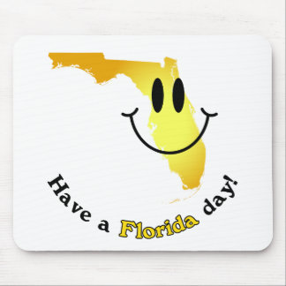 Happy Face - Have a Florida Day! Mouse Pad