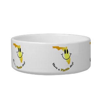 Happy Face - Have a Florida Day! Pet Bowl